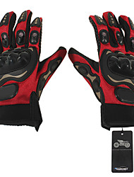 Pair Cycling Bicycle Motorcycle Outdoors Sports Full Finger Gloves Red M Model 1