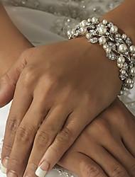 Women's Chain / Strand / Round Bangles Bracelet Imitation Pearl / Alloy Imitation Pearl / Rhinestone