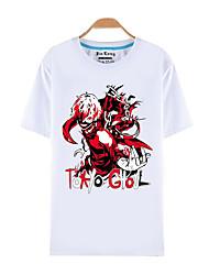 Inspiriert von Tokyo Ghoul Ken Kaneki Anime Cosplay Kostüme Cosplay-T-Shirt Druck Weiß Kurze Ärmel Top
