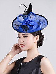 Womens Sinamay Flower Fascinator Wedding Hat
