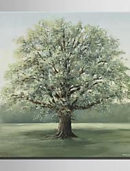 mini-pintura a óleo tamanho e-casa moderna de uma árvore grande na mão grama pura desenhar pintura decorativa frameless