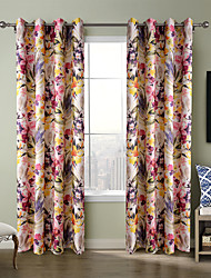 Chadmade Heat Tranfer Print Flower  Pattern - Nickle Grommet - Pink+Orange+Green