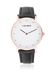 GACARNY 6813 Women Fashion Diamond Number PU Leather Band Analog Quartz Wrist Dress Watch