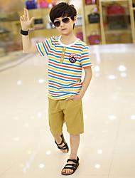 2016 Fashion Summer Boys Clothes Sets Kids Clothes Short-Sleeve Cotton  T-Shirt + Pant Boys Clothing Set