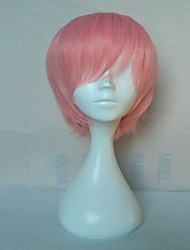 High Quality Pink Synthetic Hair Cosplay Wig Short Straight Animated Wigs Man's Cartoon Wigs Party Wigs Freeshipping