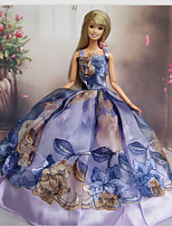 Princesse Robes Pour Poupée Barbie Pourpre clair Robes