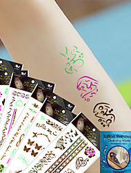 -Tattoo Aufkleber-Non Toxic / Waterproof / Metallic-Andere- fürKind / Damen / Girl / Herren / Erwachsener / Boy / Teen-Mehrfarbig-Papier-