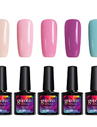 Modelones 5Pcs Makeup Gelpolish Soak Off Gel Polish Nail Art UV LED Lamp Long-lasting Gel C105
