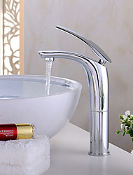 PHASAT®Bathroom Sink Faucet in Contemporary Style Single Handle One Hole Hot and Cold Water Faucet