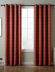 Chadmade SOFITEL Contemporary Heat Tranfer Print Abstract Stripe Pattern - Lined Curtain - Red Orange Stripe