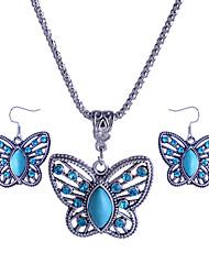 Parure di gioielli Lega Acrilico imitazione diamante Verde Collana / orecchini Matrimonio Feste Quotidiano Casual 1 Set Collane Orecchini