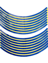 18x 10mm Car Motorcycle Wheel Hub Rim Reflective Tape Stripe Decal Sticker Blue