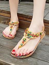 Women's Shoes Bohemian Style Sweet Flipflop Flat Heel Comfort / Round Toe Sandals Dress / Casual