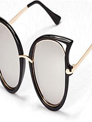 Óculos de Sol Mulheres's Modern / Fashion / sunglass Estilo Anti-Radiação / 100% UV400 / Pintado Olho de Gato Preta / Dourada / Azul