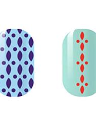фиолетовый / красный полые наклейки для ногтей