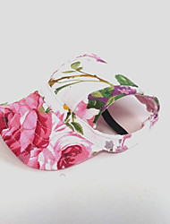 Cat Dog Bandanas & Hats Pink Dog Clothes Summer Spring/Fall Flower Holiday