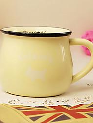 classique créative jaune céramique tasse tasse