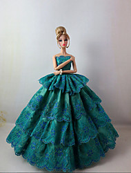 Barbie Doll Holiday Party Dress in Malachit Green