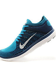 Mens Nike Free 4.0 I Flyknit Running Sneakers Shoes Blue / Orange / Green