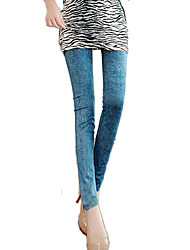 Hight Quality Women's Skinny Fashion Leggings Women  Imitation of the Jeans Prints Pants Casual Pants