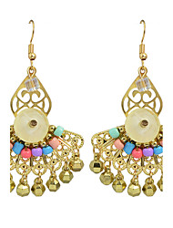 Gold Plated Chandelier Style  Earrings