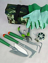 Multi-function Oxford/Wood/Plastic Garden Shears/Shovel/Spray Kettle Garden Tool Set(6pcs/set)