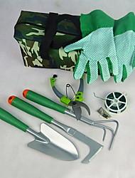Multifunktions-Oxford / Holz / Kunststoff-Gartenschere / Schaufel / Spray Kessel Garten-Werkzeug-Set (6pcs / set)