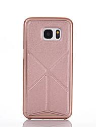 Für Samsung Galaxy Hülle Origami / Magnetisch Hülle Rückseitenabdeckung Hülle Einheitliche Farbe PC Samsung S6 edge plus / S6 edge / S6