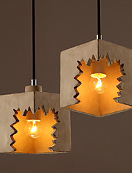 Industrial Cube Cap Design Irregular Cement Pendant Hanging Light Droplight Restaurant Cafe Bar Decoration
