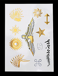 Séries bijoux Or Papier approvisionnement de tatouage article complet Pochoir Tatouage