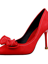 Women's Shoes Fleece Stiletto Heel Heels Heels Casual Black / Green / Pink / Red / Gray / Coral