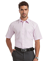 Sieben Brand® Herren Hemdkragen Kurze Ärmel Shirt & Bluse Rosa-E99A305510