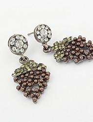 Antique Bohemia Coffee Plant Fruit Vintage Drop Earrings For Women Lady 2015 New Jewelry Grapes Earrings
