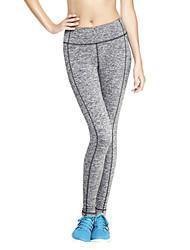 Mulheres Calças Activo Fitness Poliéster Com Stretch Mulheres
