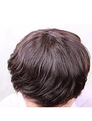 """8 """"* 10"""" мужской тупею 100% перуанский девственные волосы замена тупею для мужчин никакой путать отсутствие линять"""