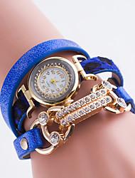 Women's European Style Simple Fashion Rhinestone Quartz Leopard Wrapped Bracelet Watch Cool Watches Unique Watches