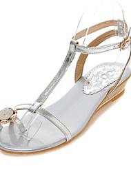 Women's Comfort Customized Materials Outdoor / Casual Flat Heel Silver / Gold