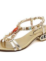 Women's Shoes Leatherette Low Heel Comfort Sandals Outdoor / Casual Gold