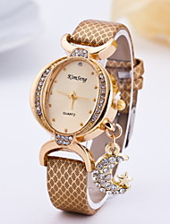 Women's Fashionable Oval Diamond Moon Star Style Pendant Quartz Watch Cool Watches Unique Watches