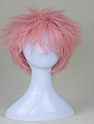Cosplay Wig Pink Synthetic Hair Short Curly Animated Wigs Men's Cartoon Wigs Party Wigs Full Wig