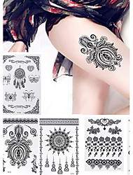 Hannah Black Lace High Quality Tattoo Stickers