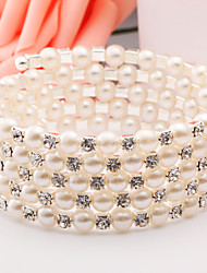 Bracelet/Cuff Bracelets Alloy Imitation Pearl Daily / Casual Jewelry  Silver / Rose Gold,1pc Christmas Gifts
