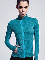 Running T-shirt / Jacket / Tops Women's Long Sleeve Breathable / Softness PolyesterYoga / Camping / Hiking / Climbing / Exercise &