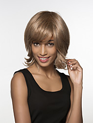 Charming  Evaginate Capless Medium Length  Remy Human Hair Hand Tied Top wigs