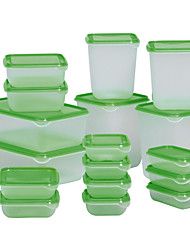 17pcs Set Sweden PRUTA Food Storage Box Sealed Crisper Plastic Refrigerator Preservation Box Container Kitchen Supplies