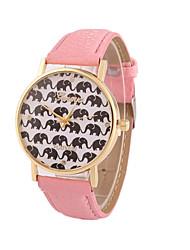 Women's Fashion Casual European Style Geneva Cartoon Elephant Quartz Watch Cool Watches Unique Watches