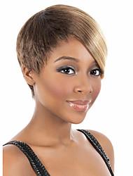 les femmes bob courtes perruques de cheveux synthétiques droites fibre résistant à la chaleur beige brun cheveux perruque fête pas cher cosplay