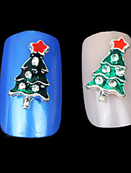 Lovely Mental Christmas Drip Alloy Nail Jewelry