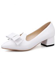 Women's Shoes Low Heel Heels/Pointed Toe Pumps/Heels Office & Career/Casual Black/White/Beige