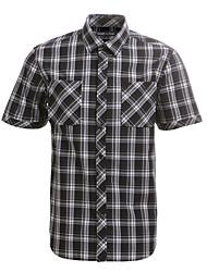 JamesEarl Herren Hemdkragen Kurze Ärmel Shirt & Bluse Schwarz - DA182029926